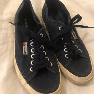 Navy Blue Superga Sneakers